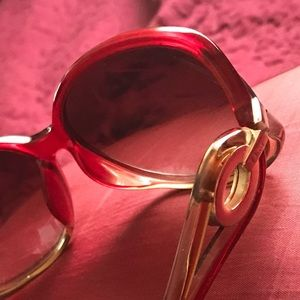 Red Gold Ombré Dior Oversized Sunglasses